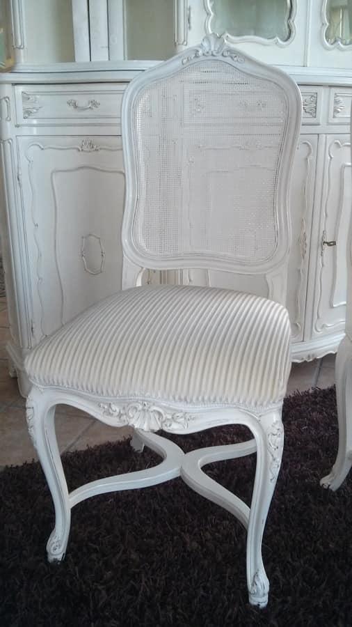 3310 CHAIR LUIGI XV, Chair with cane backrest, Louis XV