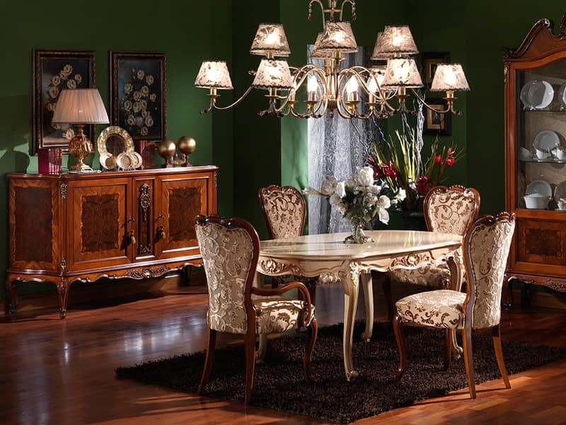 3480 ARMCHAIR, Classic chair head of the table, for luxury dining rooms