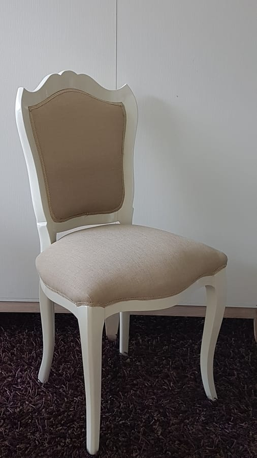 3520 chair, English style chair, with padded seat and backrest