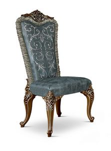 4609/S, Padded chair for classical dining room