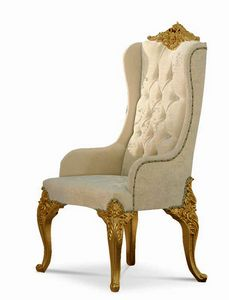 4643/A, Upholstered headboard chair, with capitonn� backrest
