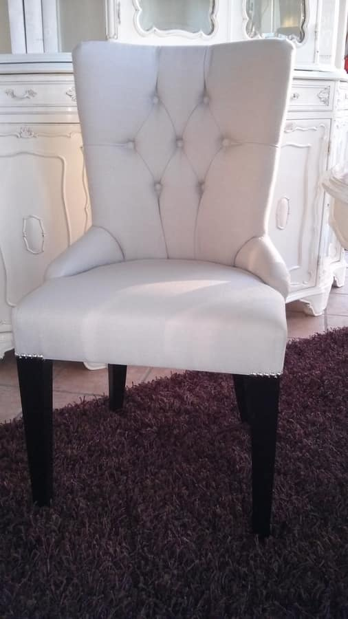 8236 CHAIR, Chair with padded backrest