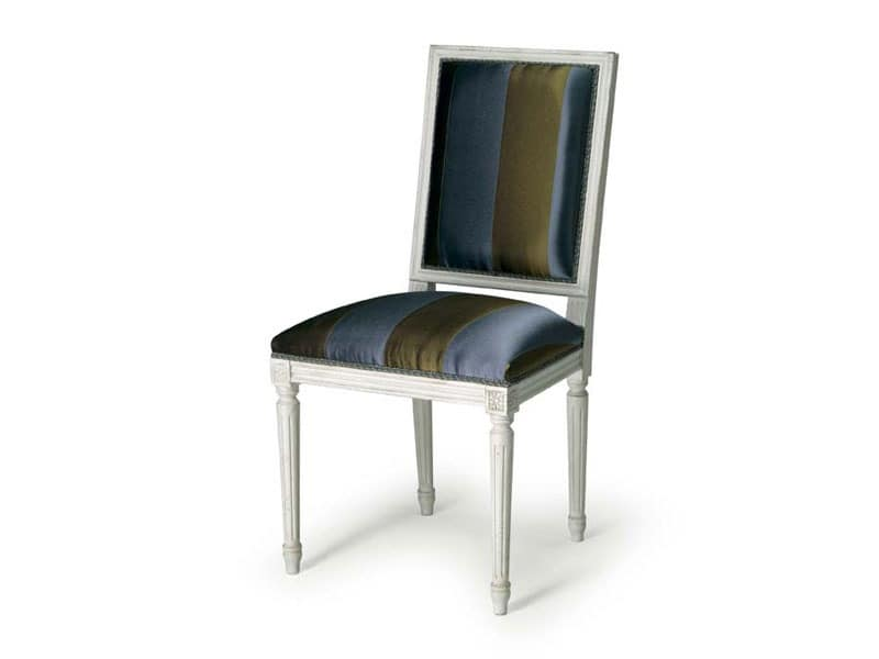 Art.102 chair, Chair with padding for dining rooms, Louis XVI style