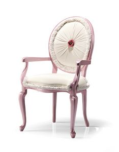 1032/A, Padded chair with Swarovsky button