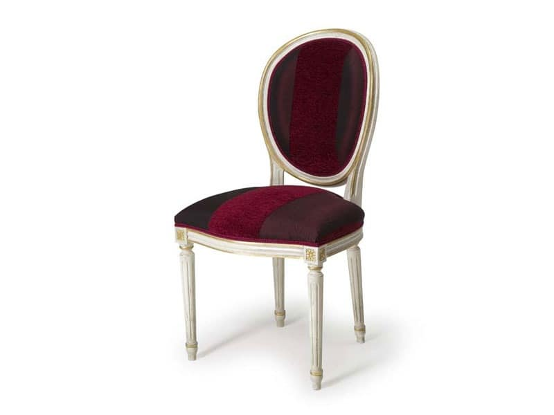 Art.104 chair, Chair with oval padded backrest, Louis XVI Style