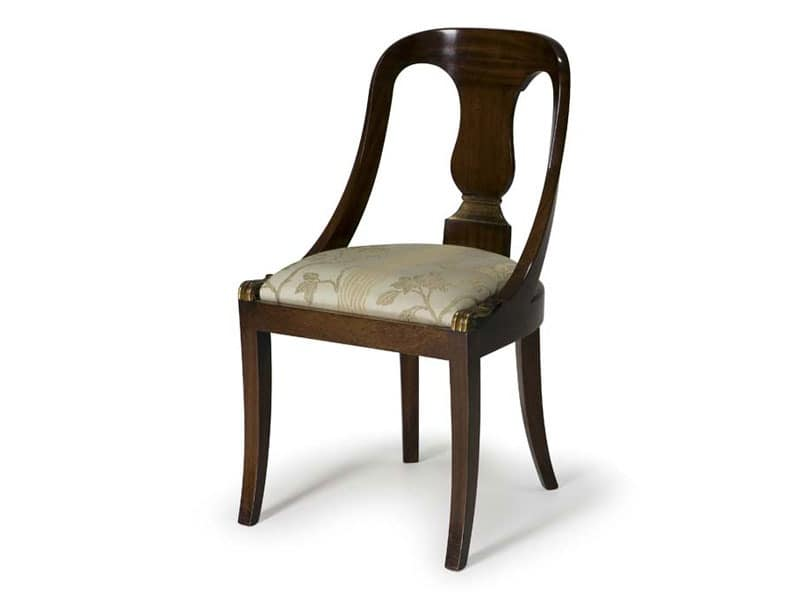 Art.132 chair, Classic style chair made of wood, for restaurants and hotels