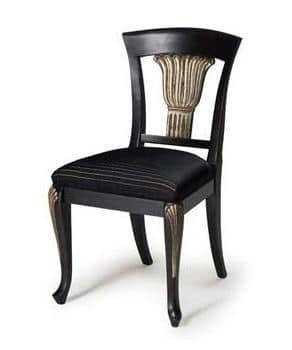 Art.139 chair, Classic chair in beechwood, upholstered seat with springs