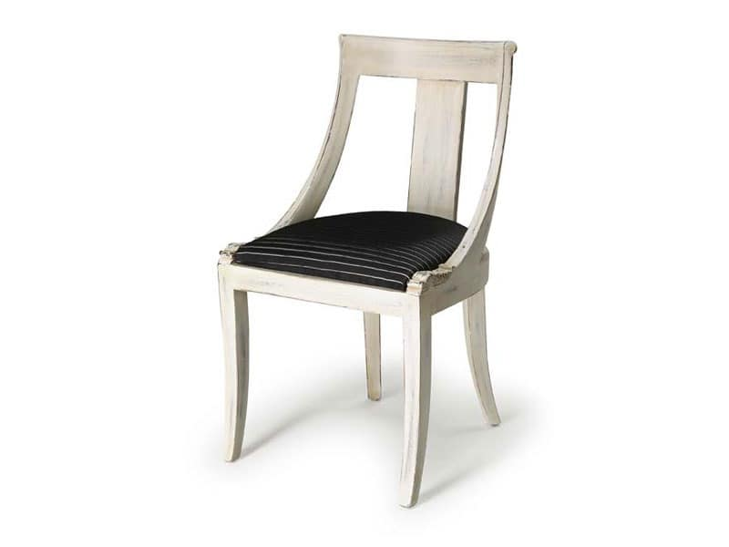 Art.183 chair, Classic style chair for living rooms and restaurants