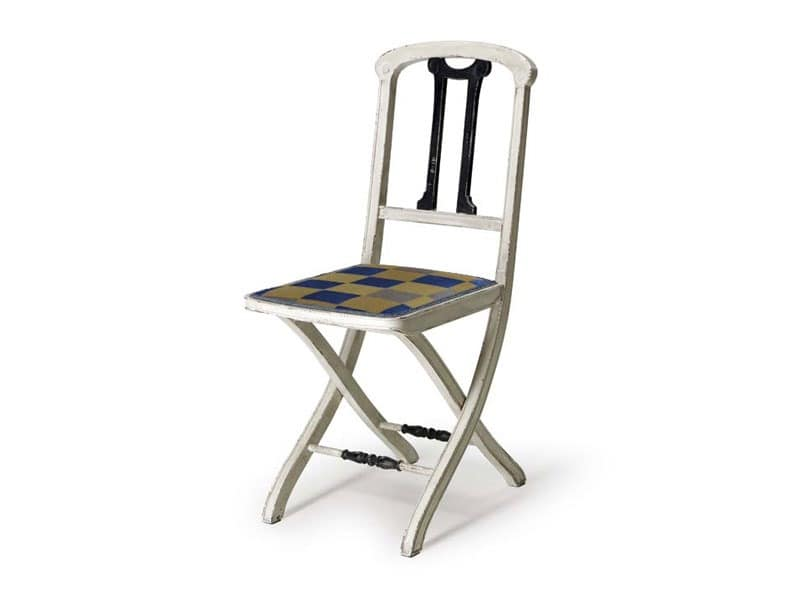 Art.192 chair, Folding chair made of wood, classic style