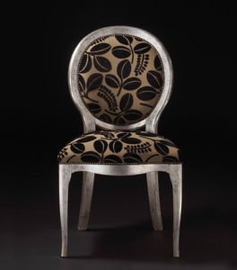 Art. 19928, Wooden chair, with round backrest, classic style