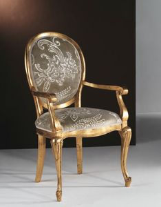 Art. 20325, Gold chair, with round back