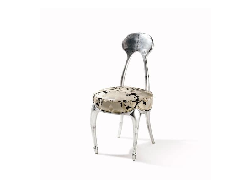 Art.242 chair, Classic style chair with padded seat