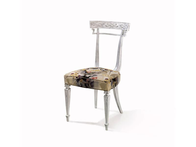 Art.244 chair, Customizable beech chair, luxury classic style