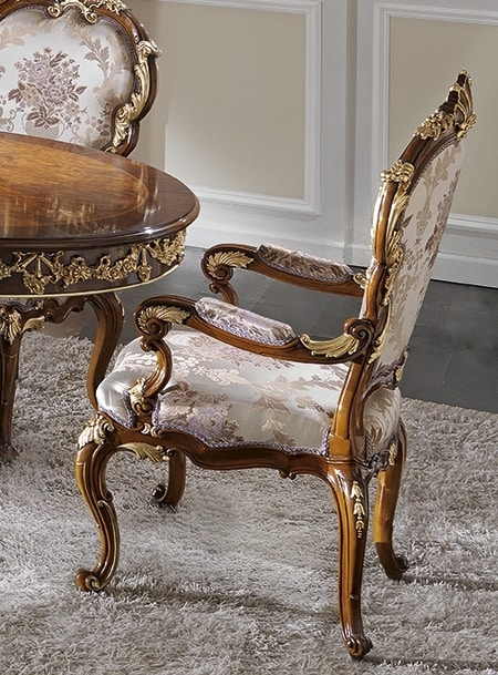 ART. 2968, Classic style chair with armrests