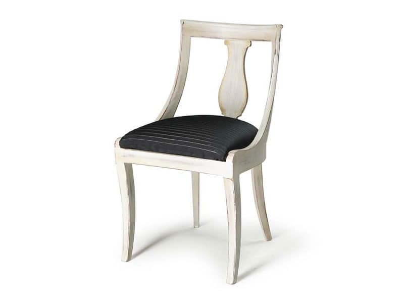 Art.465 chair, Classic style chair in wood for bars, restaurants and hotels