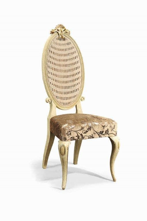Art. 502s, Classic chair made of carved wood and Vienna straw