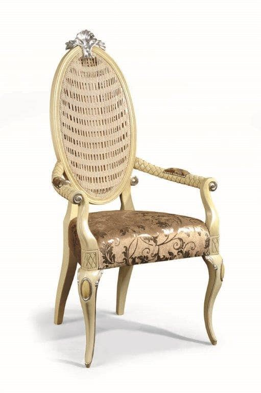 Art. 502p, Chair with padded armrests and backrest in cane
