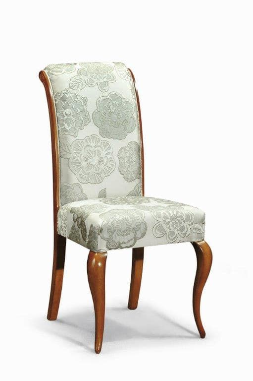 Art. 506s, Classic chair with upholstered backrest and curved