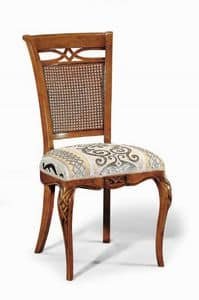 Art. 507s, Chair with carvings and decorations, with cane backrest