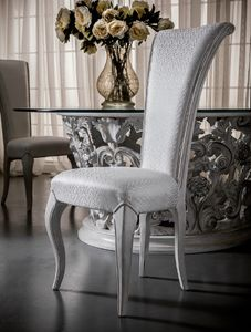 Art. 5091, Dining chair with high backrest, elegant and refined