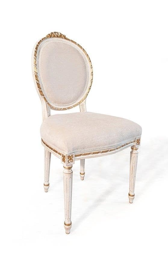 Art. 514, Luxury classic chair, Louis XVI style, for livinng room
