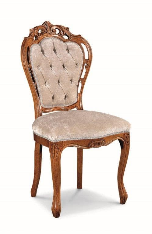 Art. 520s, Chair with wooden carvings and perforated structure