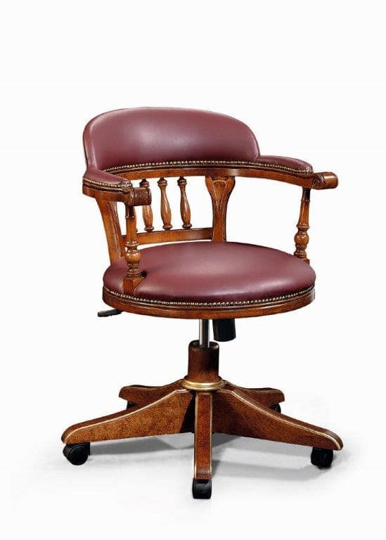 Art. 526g, Chair with wheels, in classic style