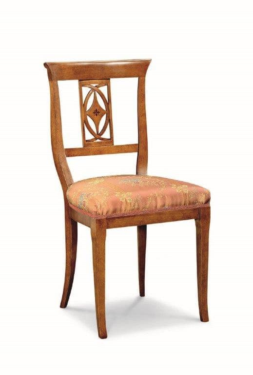 Art. 542s, Chair with carved backrest, for restaurants and pizzerias