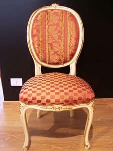 Art. 830, Luxury classic chair for home, Louis XV style