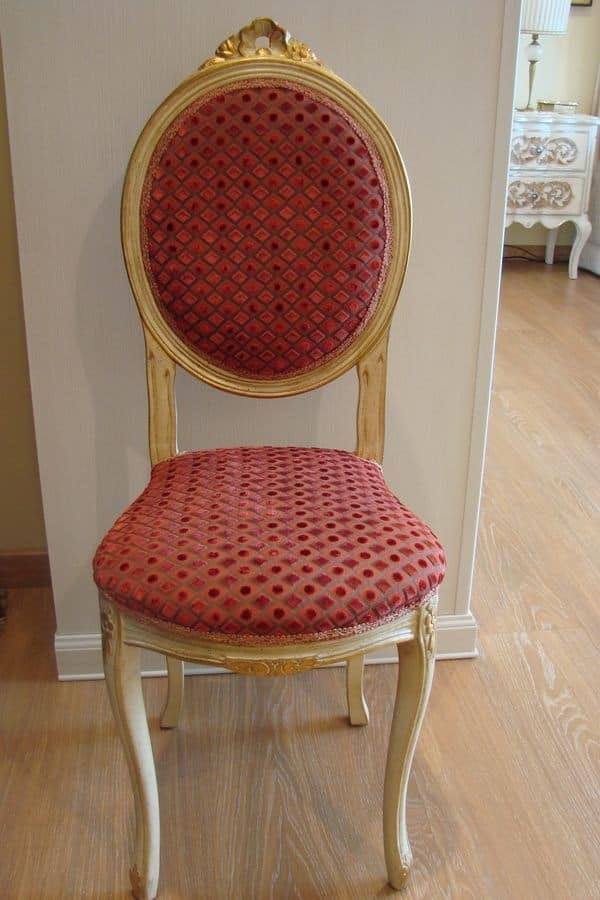 Art. 835, Classic chair for the kitchen, distressed wood