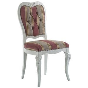 Art. AX110, Dining chair, decorated by hand