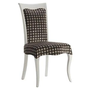 Art. CA120, Dining chair, wooden, with upholstered seat and backrest