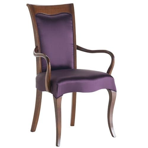 Art. CA121, Wooden chair with armrests, for dining room