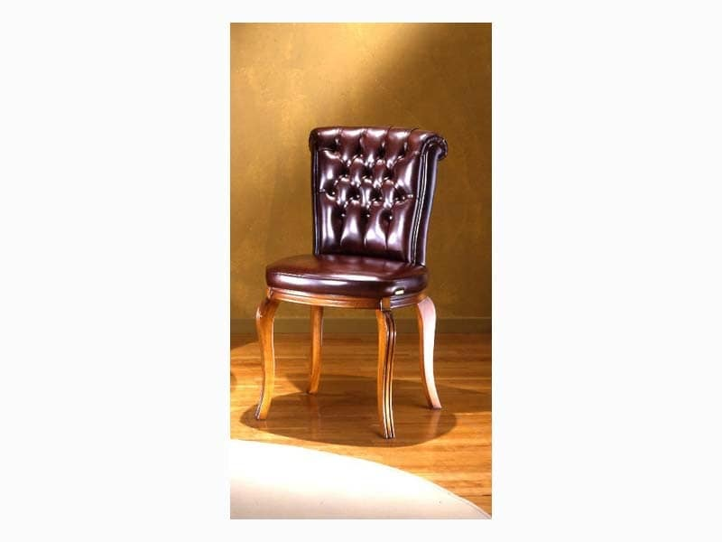Bonn Capitonnè, Chair with tufted backrest, for dining rooms