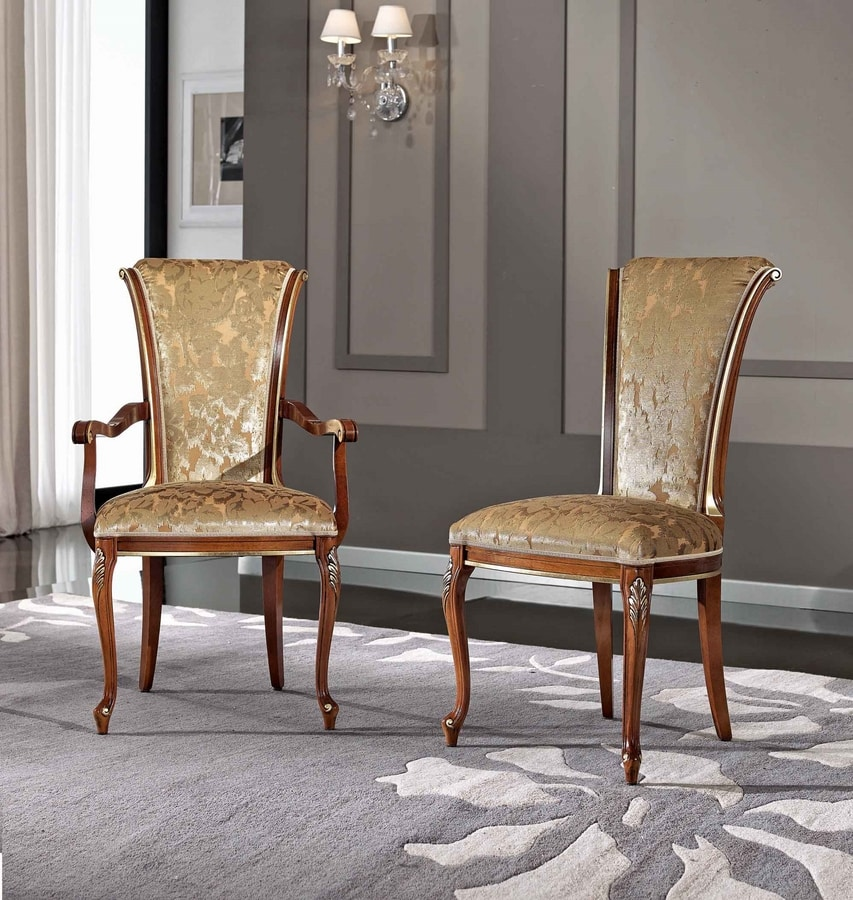 BS346A - Chair, Classic style chair with armrests