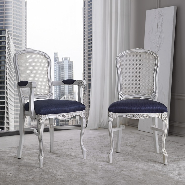 BS394S - Chair, Chair with Vienna straw backrest