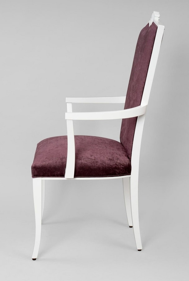 BS458A - Chair, Classic style chair with armrests