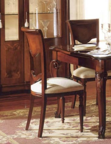 Canova chair, Classic chair in walnut, carved by craftsmen