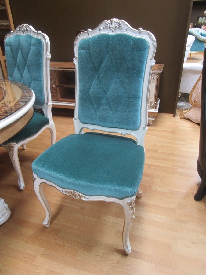 Chair 1427, Upholstered classic style luxury chair