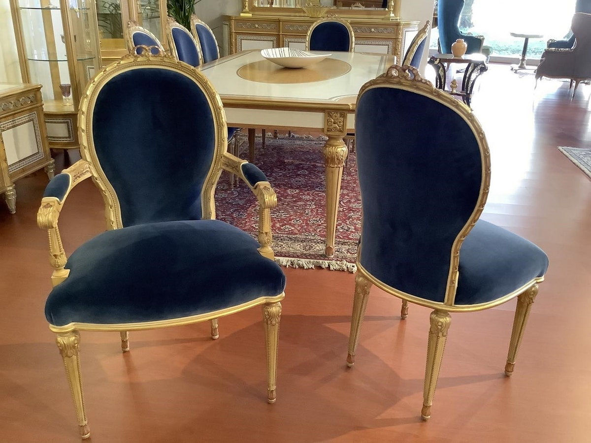 Chair 1445 Louis XVI style, Classic style dining chair