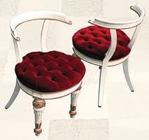 Chair art. Soft Dinner, Quilted chair for dining rooms, Direttorio style