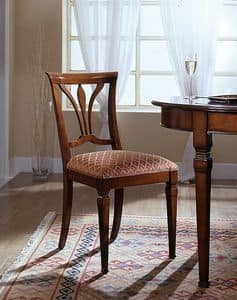 D 601, Chair with seat covered in fabric made in Italy