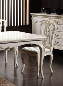 Desiree chair, Classic chair in white lacquered wood