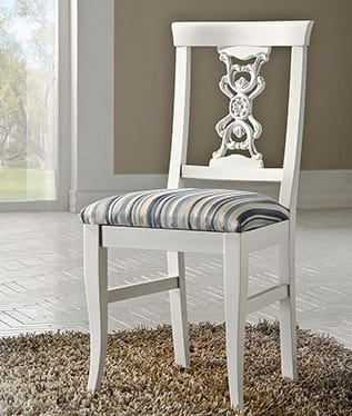 Exclusive chair, Lacquered chair, in classic style