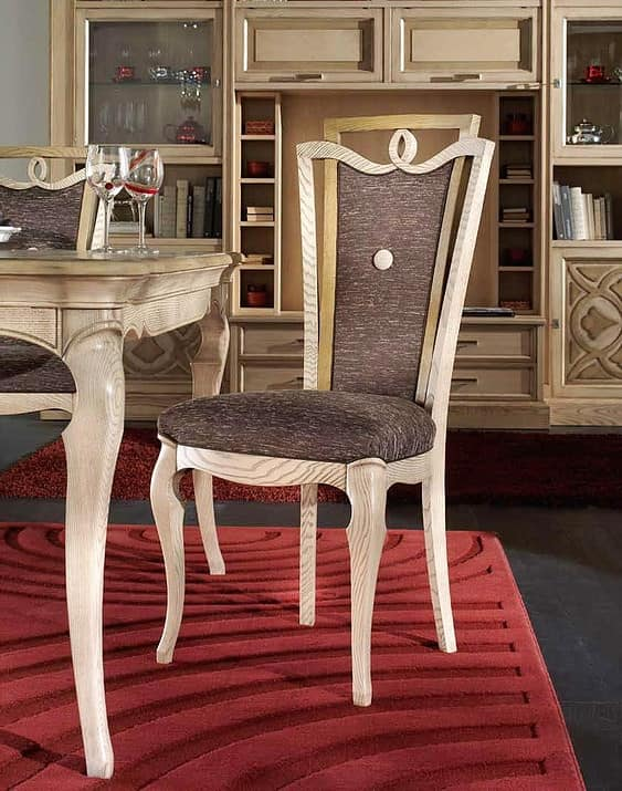 F 601, Padded chair in brushed ash, high quality