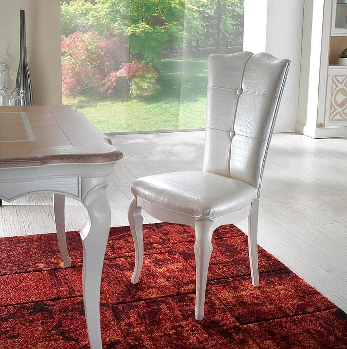 F 602, Padded classic chair with tufted backrest