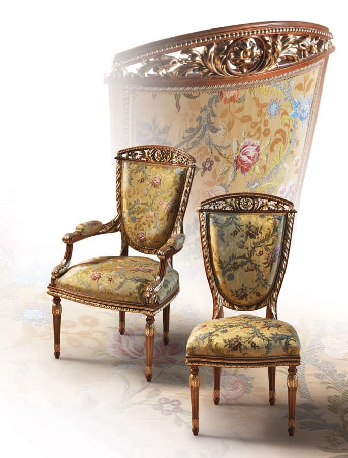 F104/A, Chair in classic luxury style for Dining Room