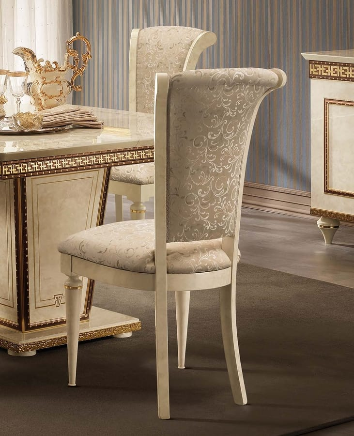 Fantasia chair, Luxurious dining chair, in neoclassical style