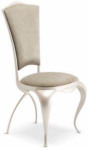 Ghirigori padded chair, Elegant dining chair padded