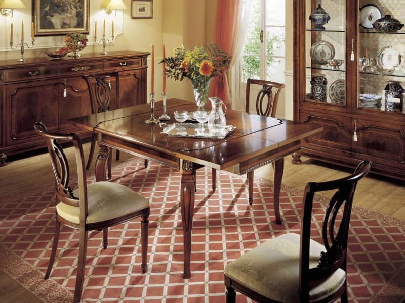 GRANDUCATO / Chair, Classic chair in wood for dining rooms